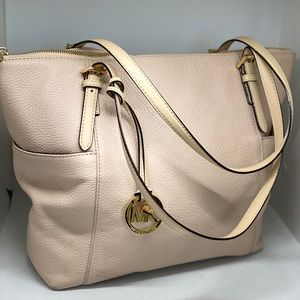 MICHAEL KORS Pink/Tan Leather Tote